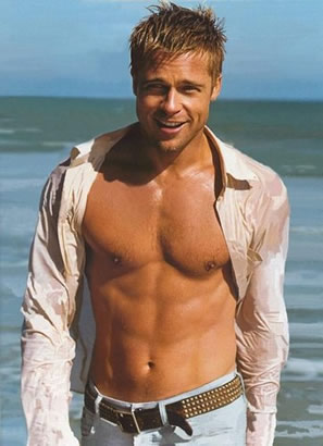 The 3 Secrets of Brad Pitt's Abs