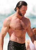 Hugh Jackman workout washboard abs